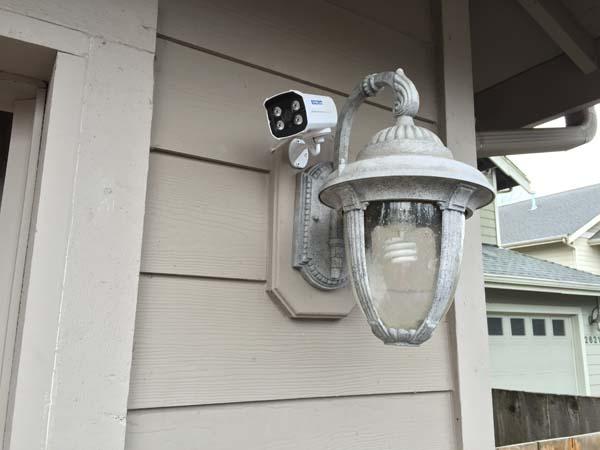 Escam mounted outside