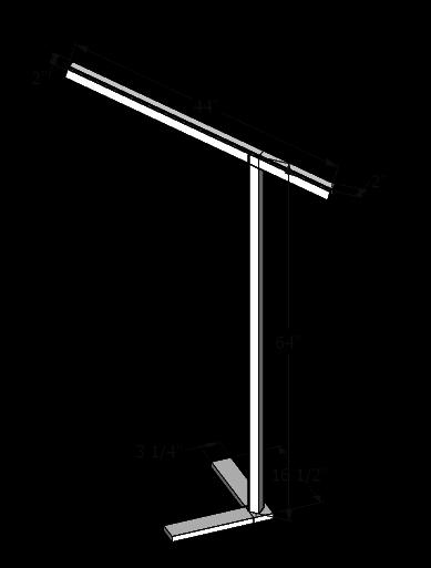 Lamp dimensions